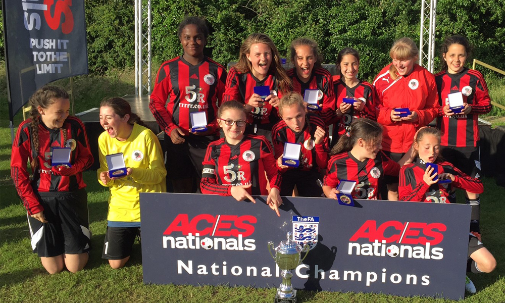 2016 Winners Girls Under 14 Tilehurst Panthers representing Reading