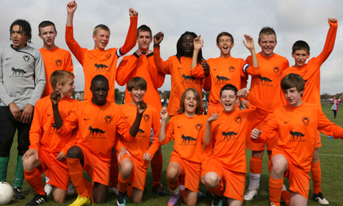 Boys U14 2010 Winners Woodford Youth FC representing Essex