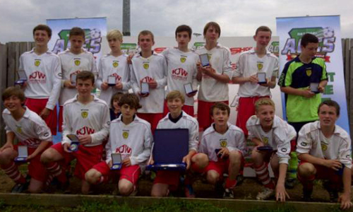 Boys U15 2012 Winners Burton Central representing Derby