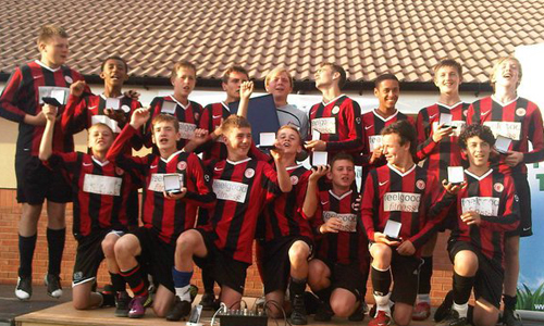 Boys U16 2011 Winners Netherton Utd representing Peterborough