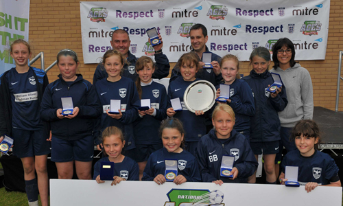 Girls U12 2014 Winners Washington Lionesses representing Sunderland