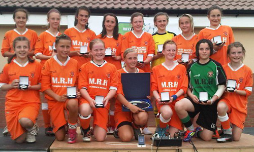 Girls U14 2011 Winners Blackpool Girls representing Blackpool