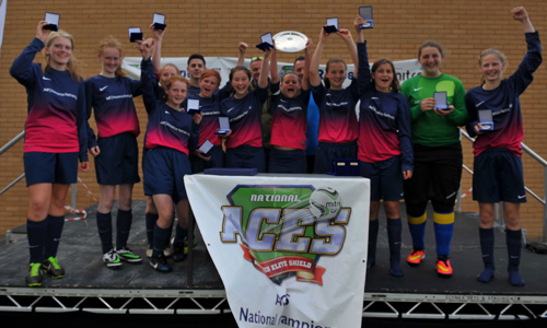 Girls U15 2014 Winners Mill Lane Girls representing Hull
