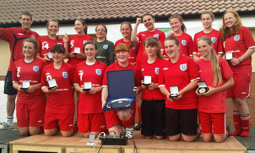 Girls U16 2011 Winners Mersey Girls representing Merseyside
