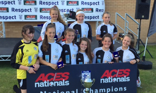 U15 Girls 2015 Winners Frome Town representing Bath