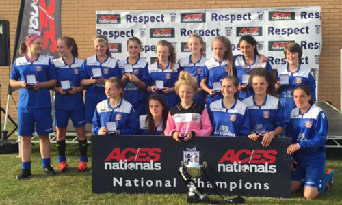 U16 Girls 2015 Winners Farsley AFC Ladies representing Leeds