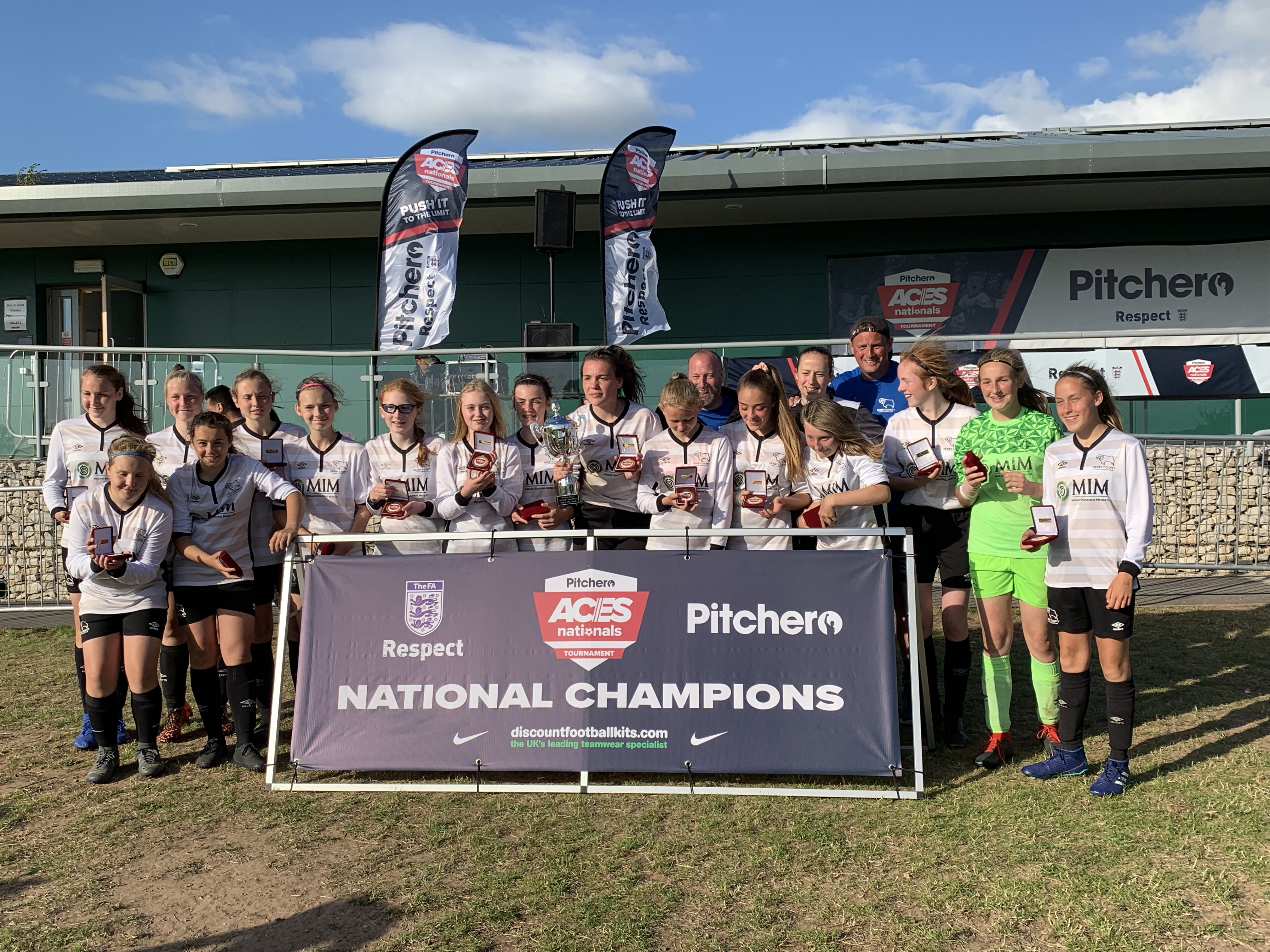 2019's GU15 champions, representing Derby, Derby County