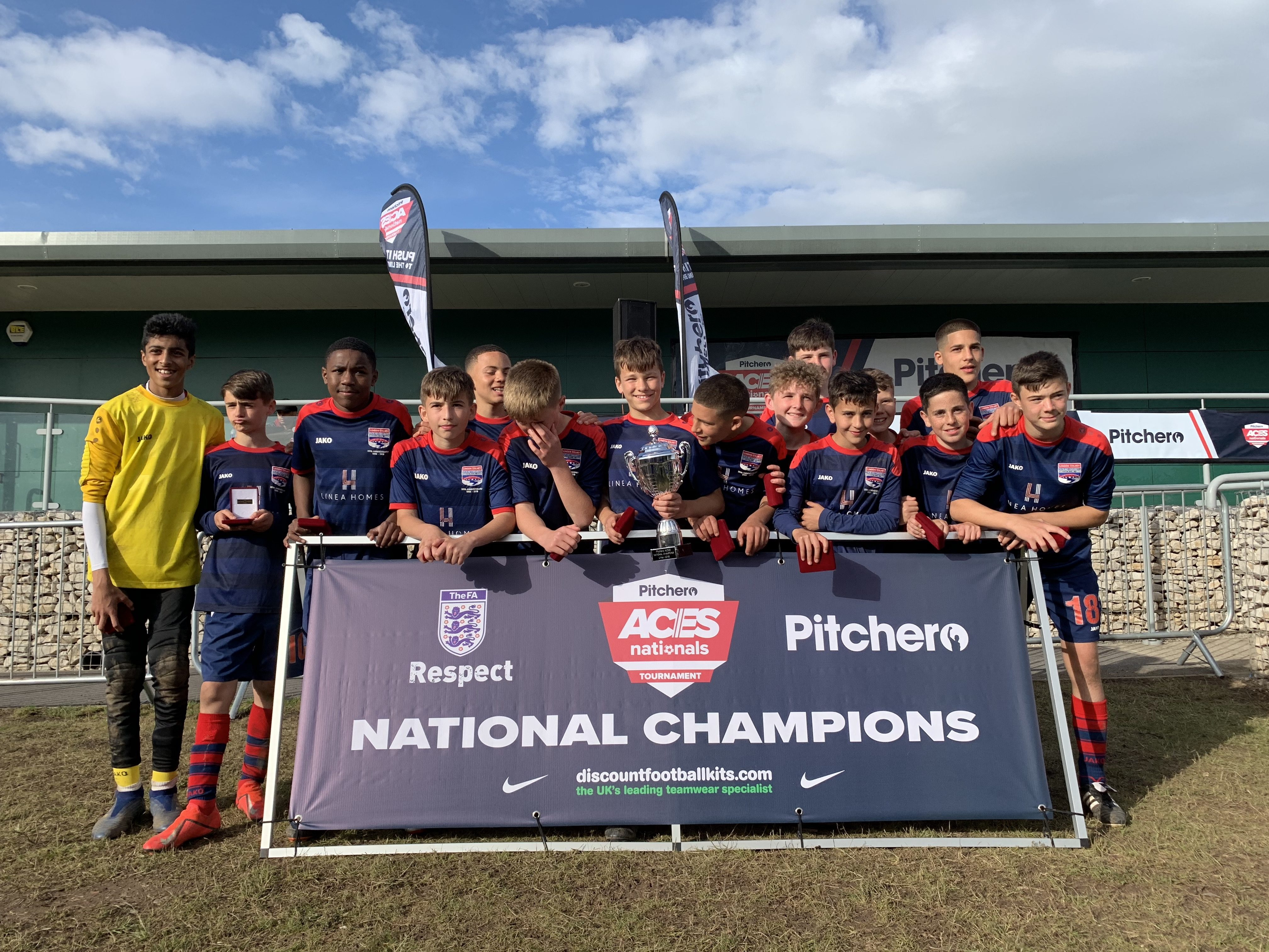 2019's U14 champions, London Colney Colts, representing St. Albans